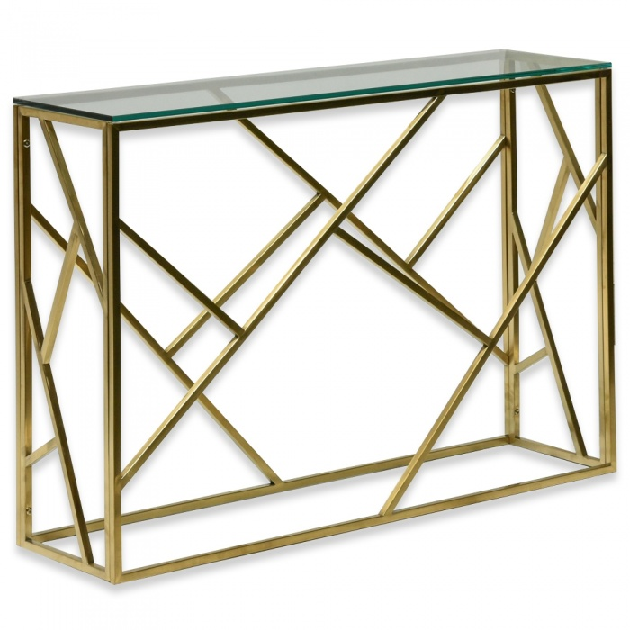 Freda Hall Console Table Glass