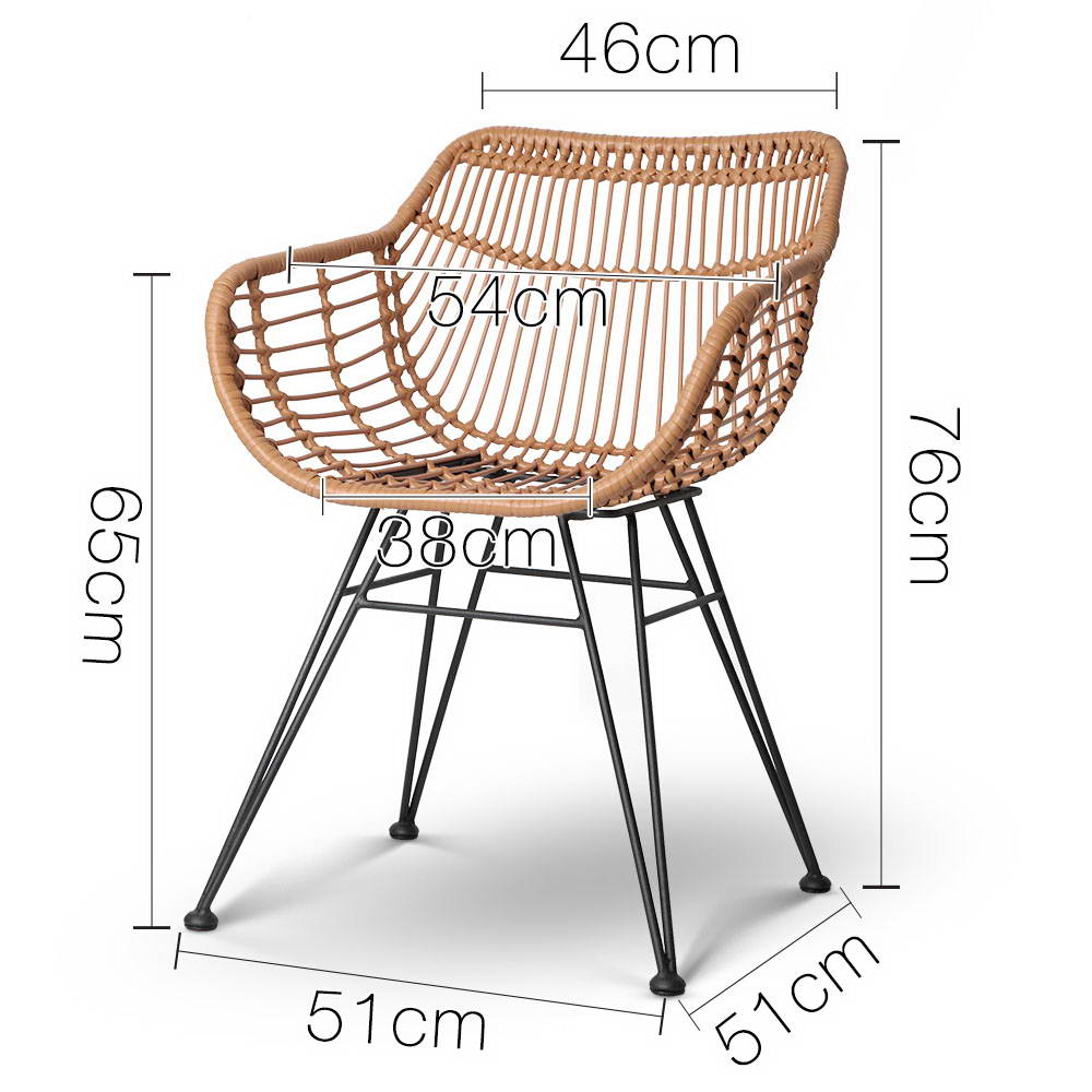 Wicker Dining Chair - Natural 2