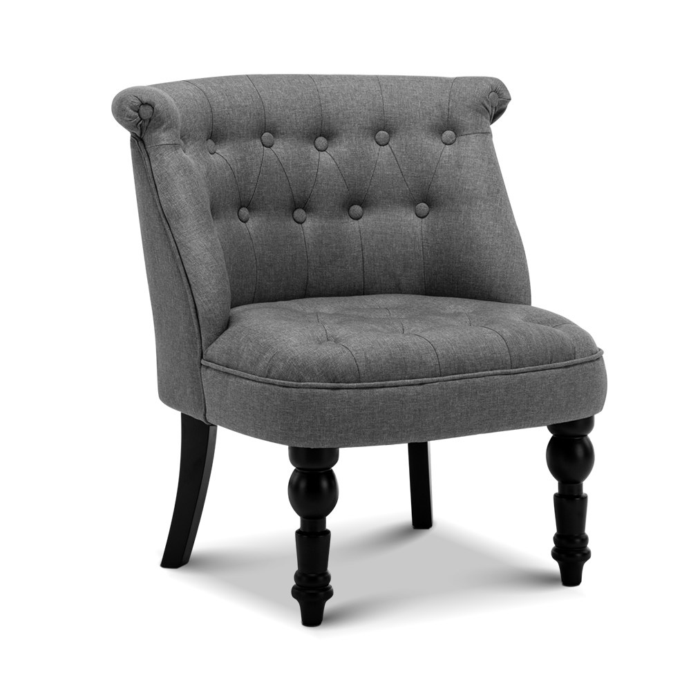 French Provincial Arm Chair Grey