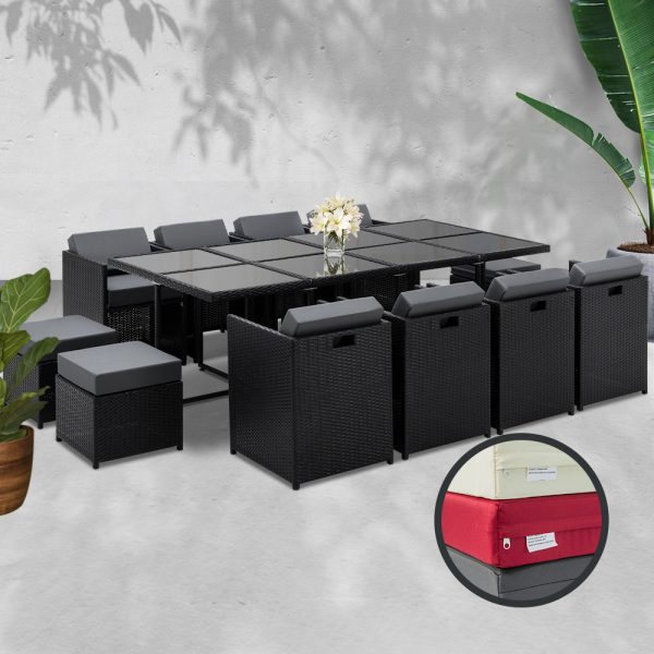 13-Piece-Wicker-Outdoor-Dining-Table-Set