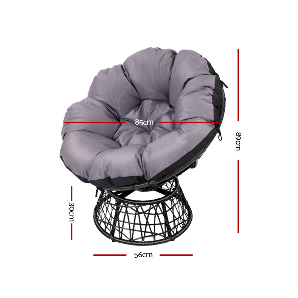 Papasan Chair - Black