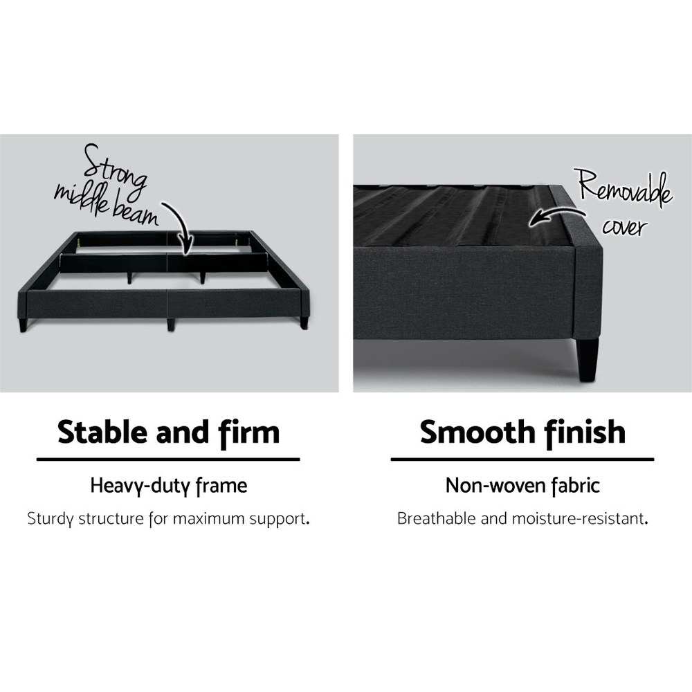 Queen Bed Base Charcoal