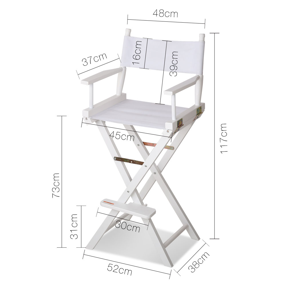 Tall Director Chair - White