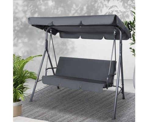noah Swing Chair with Canopy – Grey
