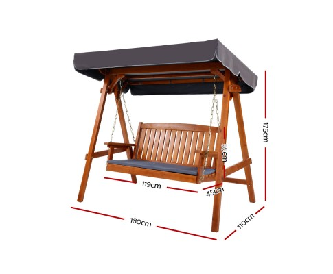 Gerome Outdoor Swing Bench