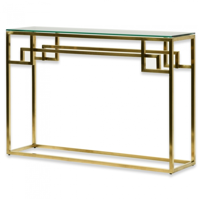 Sadie Glass Hall Console Table