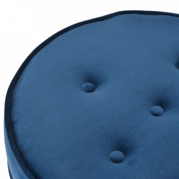 Shelby Ottoman Blue Velvet