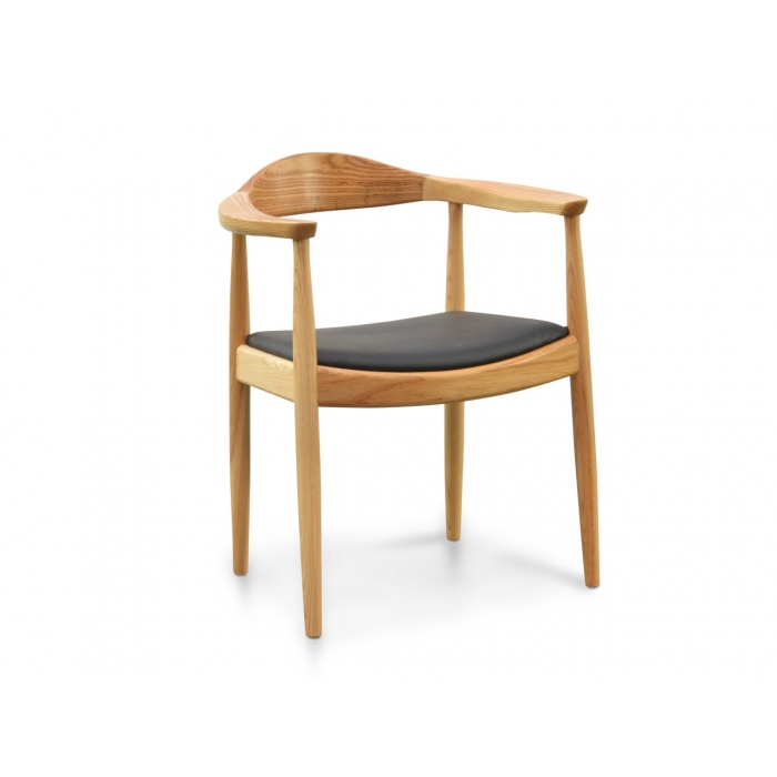 Rainer Round Dining Armchair Natural