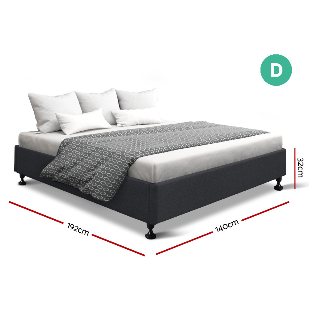Sharna Double Bed Charcoal