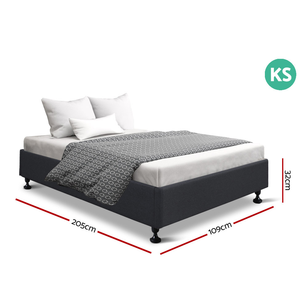 Connor King Single Bed Charcoal