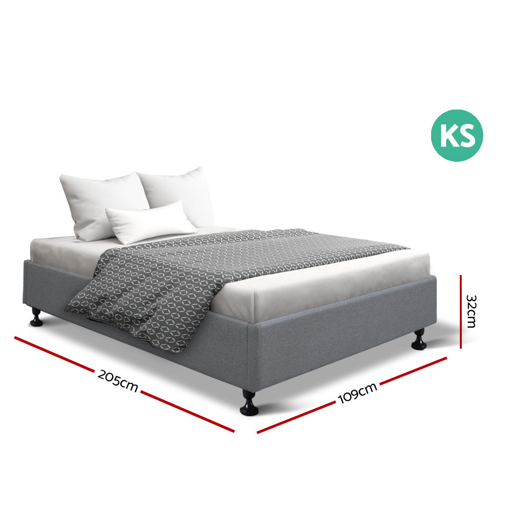 Honor King Single Bed Grey