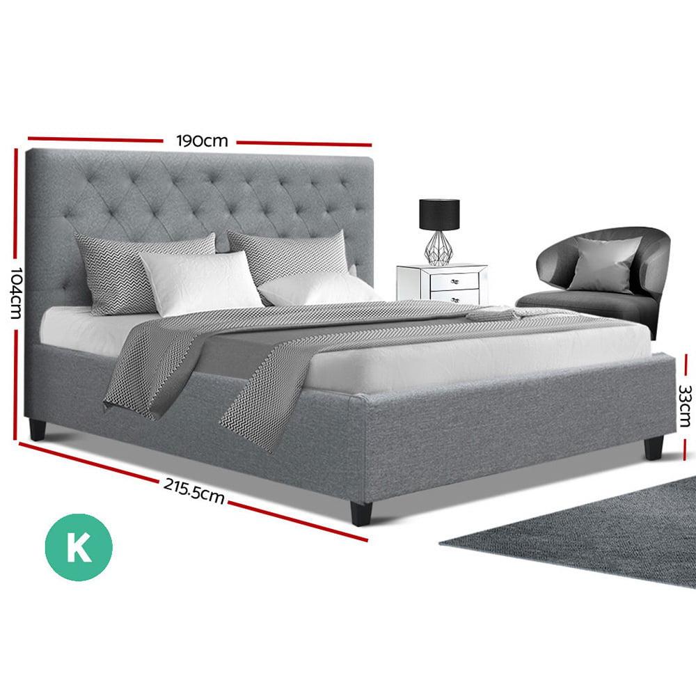 Uli King Bed Grey