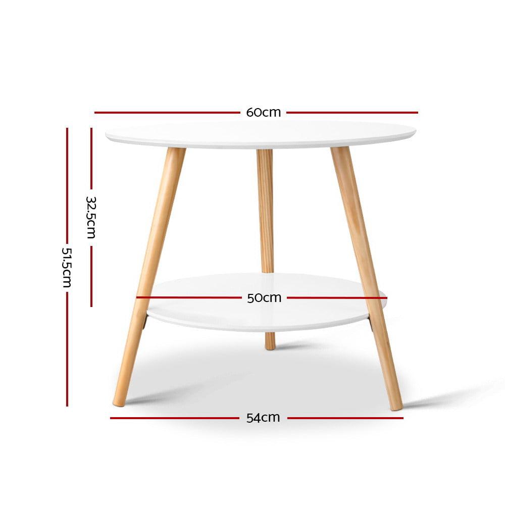 Phoenix Side Table White