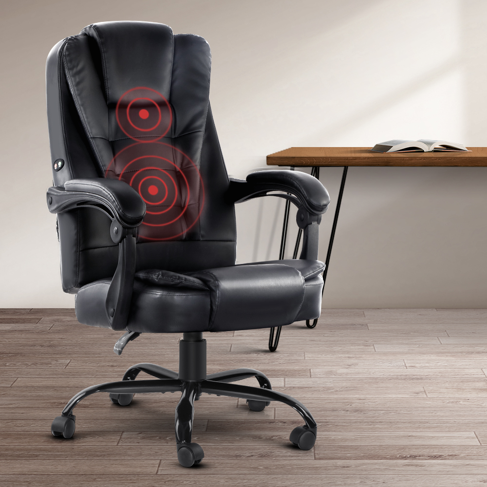 Electric Massage Office Chair Recliner Black