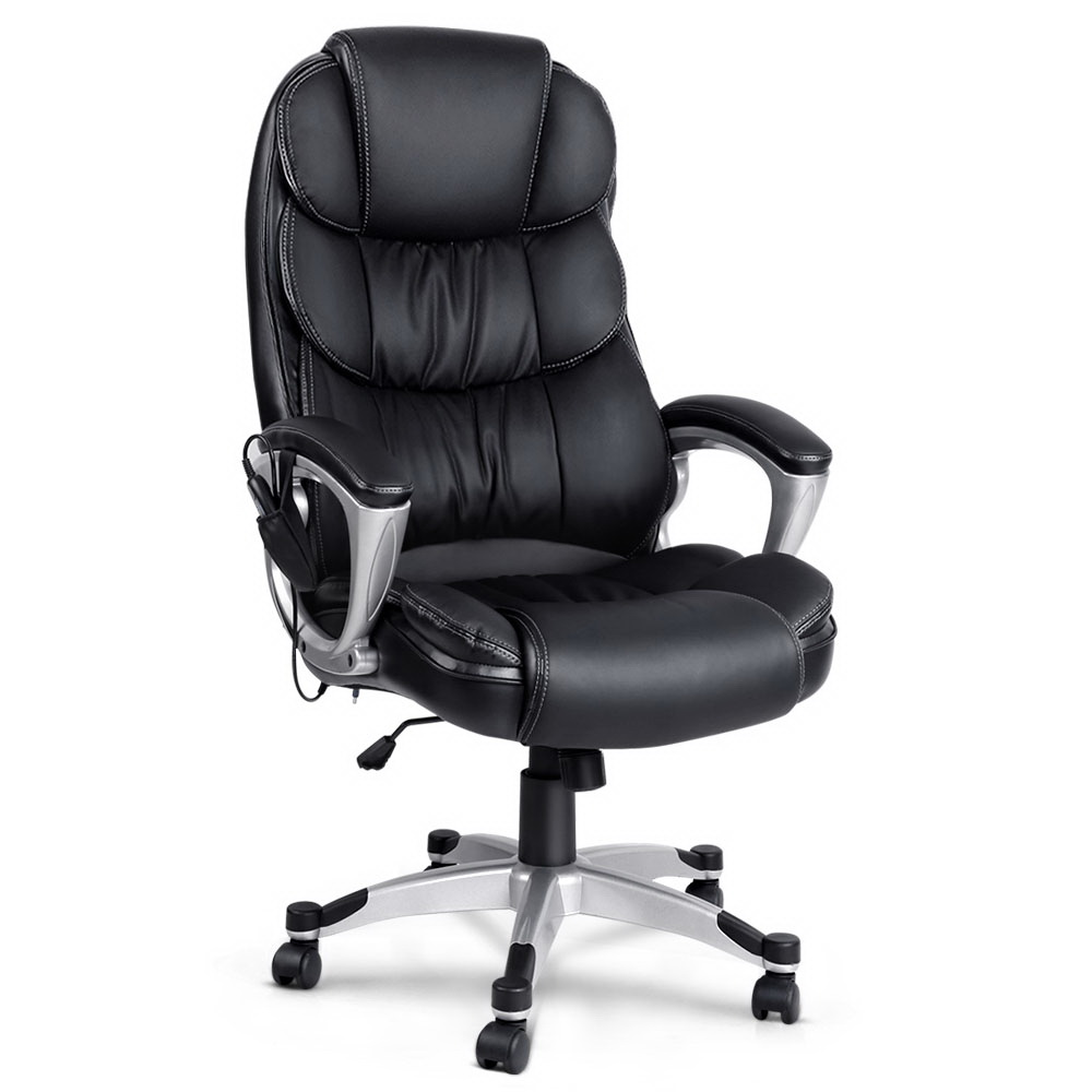 Ellen Leather Reclining Massage Chair Black