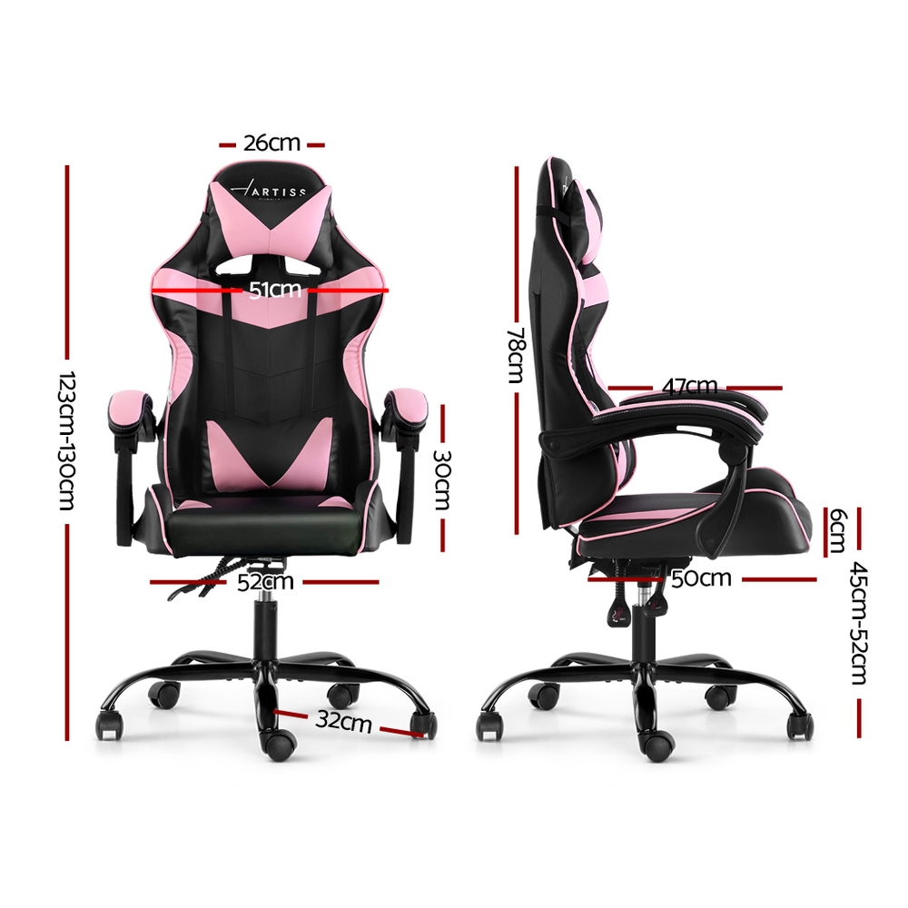 Jackson Chair Chairs Recliner Leather Black Pink
