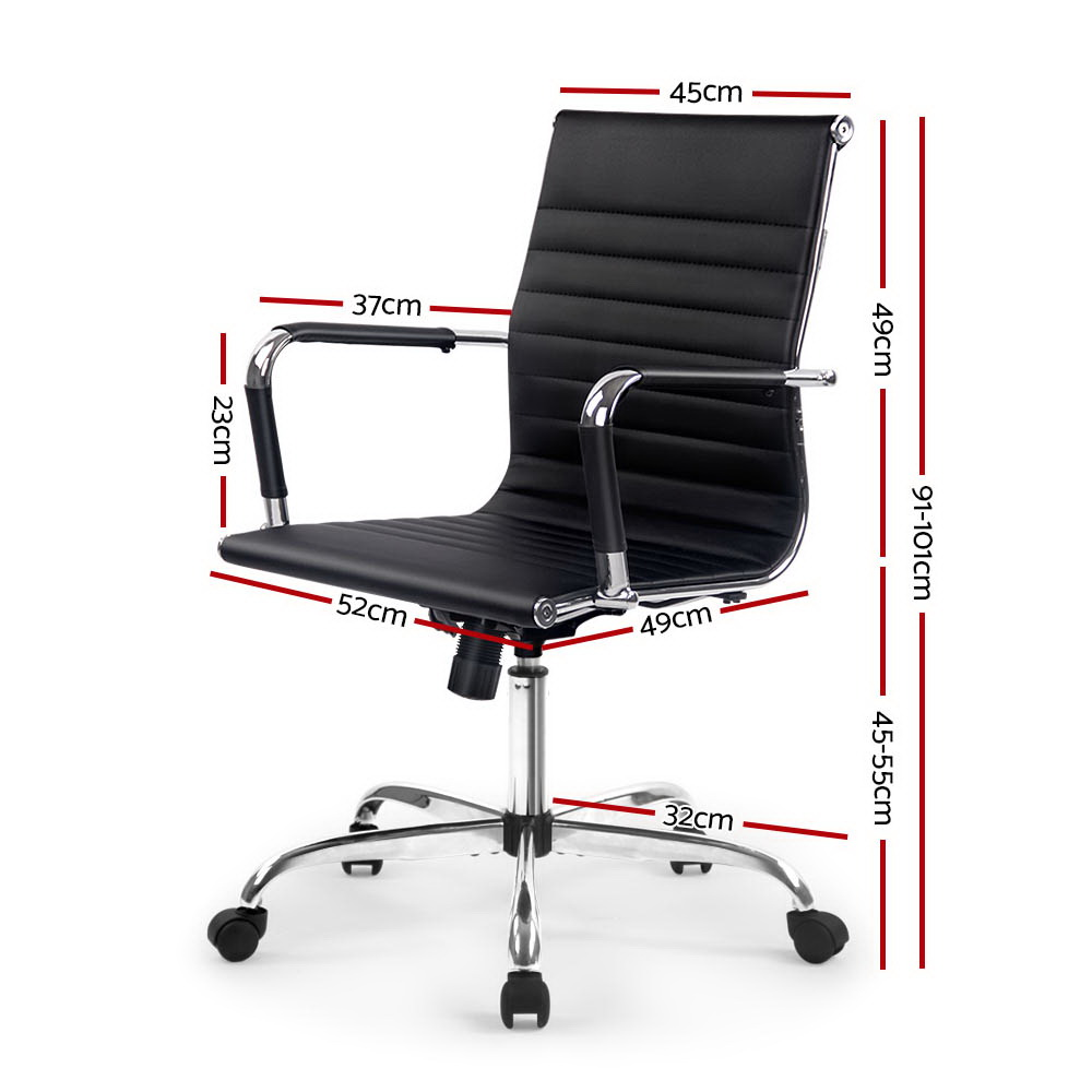 Laurant Office Chair Leather Black