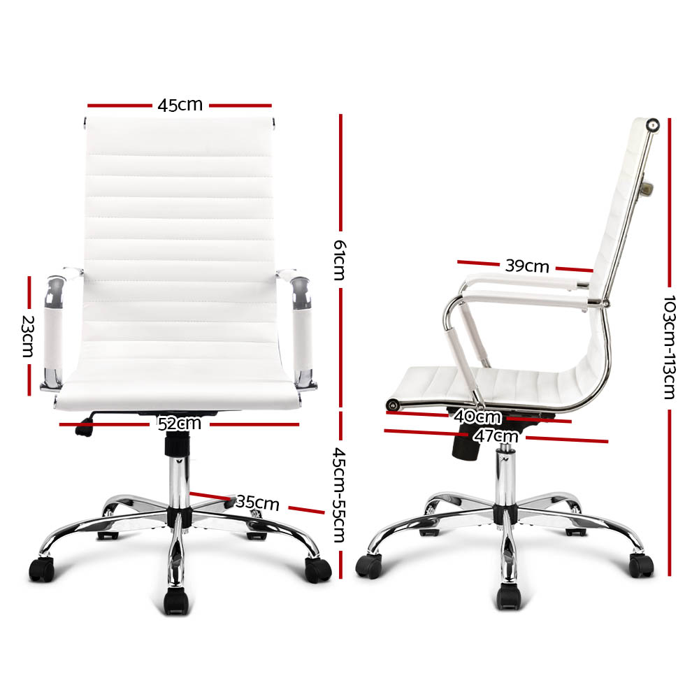 Laurant Office Chair Leather White