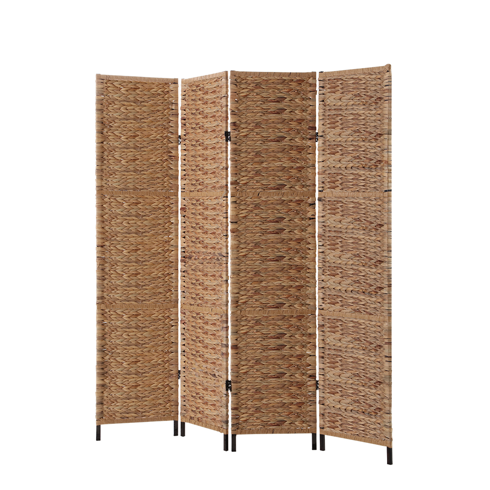 4 Panel Room Divider Metal Natural