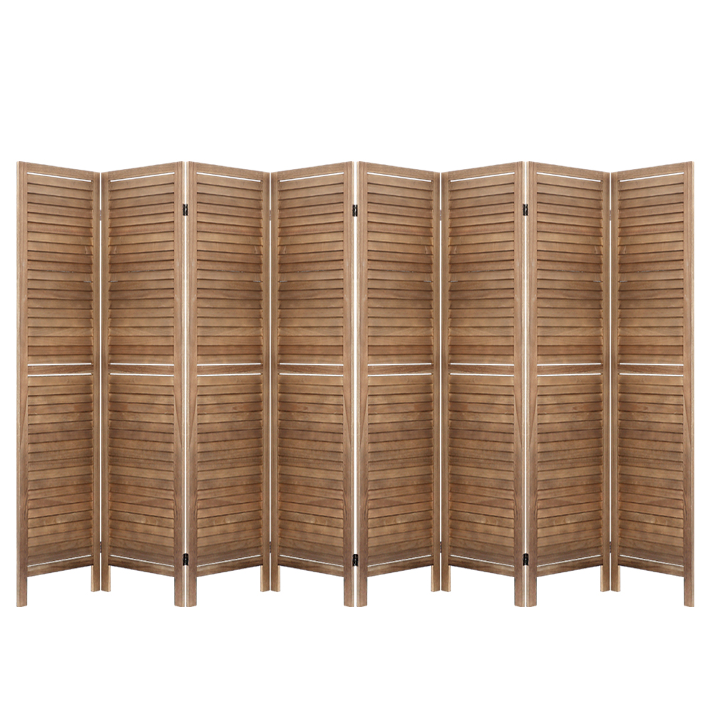 Room Divider 8 Panel Brown
