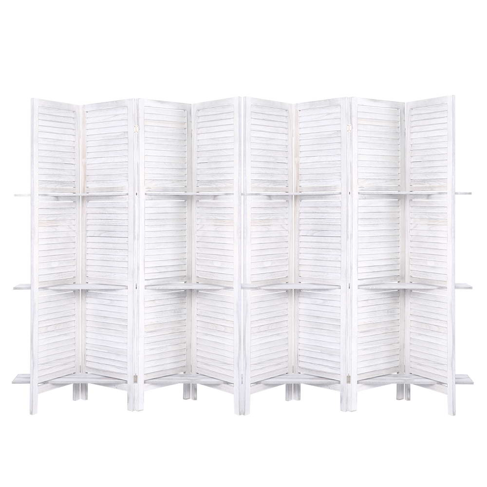 Room Divider 8 Panel Dividers White