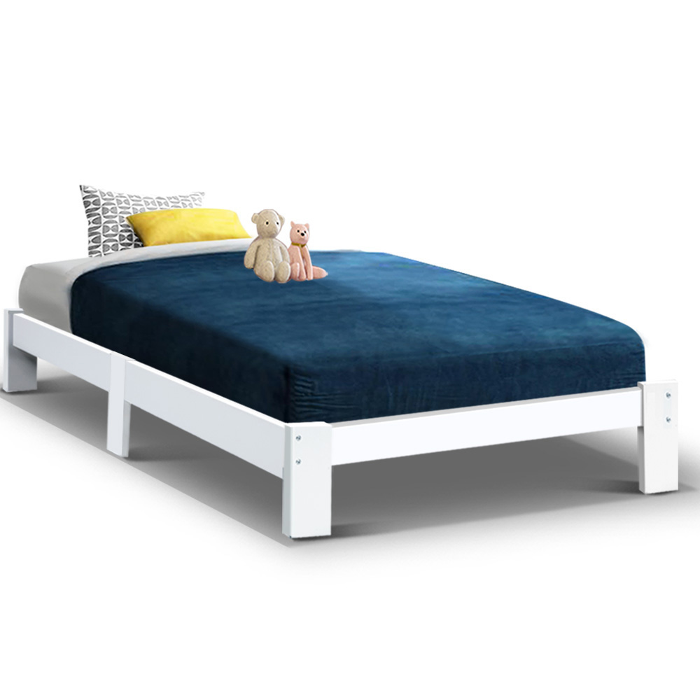 Jackson King Single Bed White