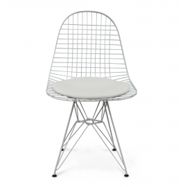 Raquel Wire Dining Chair White