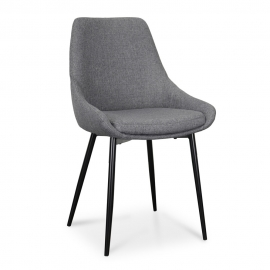 Karin Dining Chair Dark Grey Set of 2