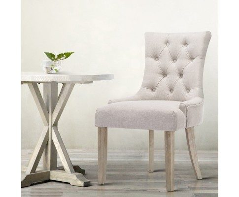 Phoebe French Provincial Dining Chair Beige
