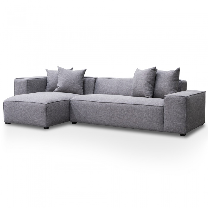 Harlo 2 Seater Left Chaise Sofa Charcoal