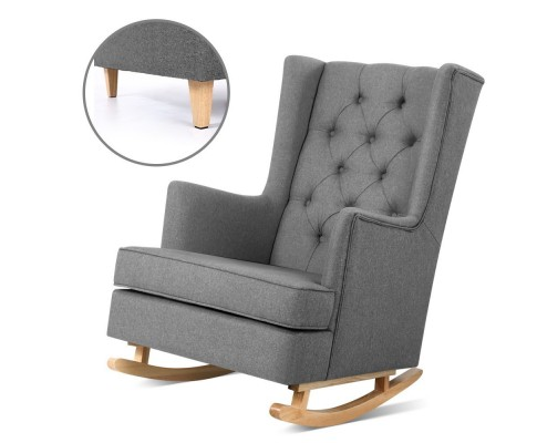 shelby rocking chair convertible grey