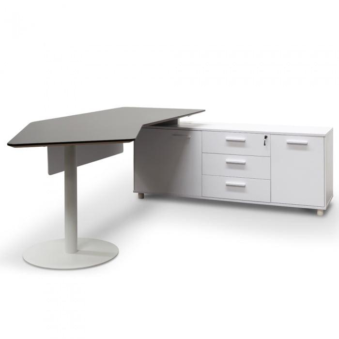 Executive Office Desk Right Return Black