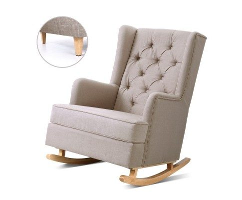 shelby rocking chair convertible beige