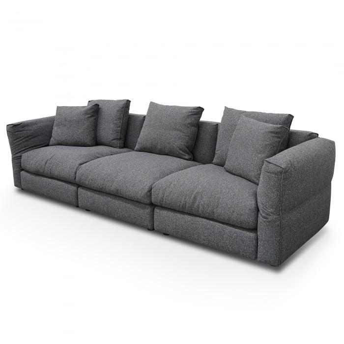 Chloe 3 Seater Sofa Charcoal