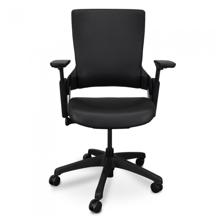 Claudia Leather Office Chair Black