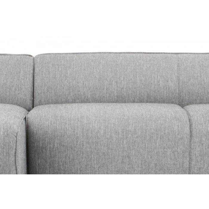 3 Seater Left Chaise Sofa Dark Texture Grey
