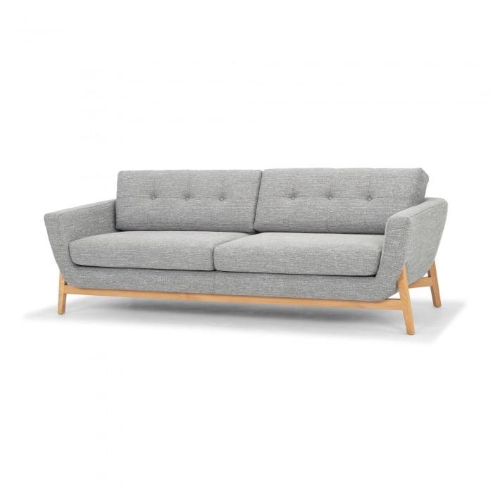 Callista 3 Seater Sofa Charcoal