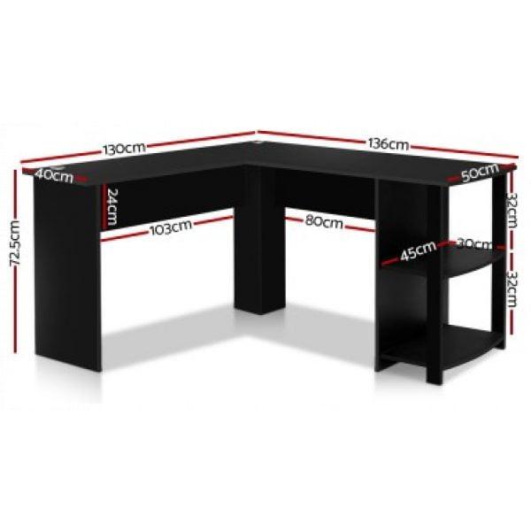 Thornton Black Corner Desk