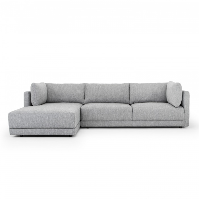 Cadence 3 Seater Left Chaise Sofa Graphite Grey