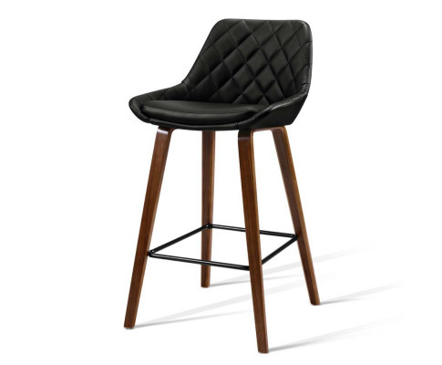 Amberson Wood Bar Stool Black 2
