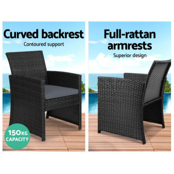 Sally Outdoor Lounge Setting Charcoal