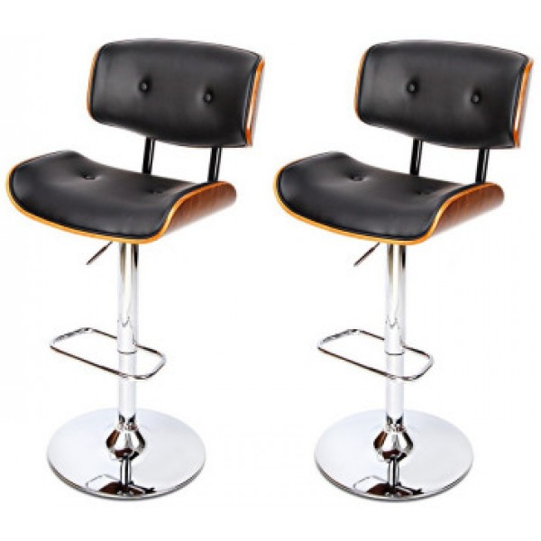 Stevie Black Bar Stool Set 2