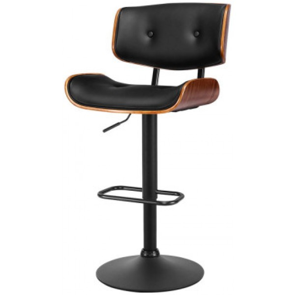 Stevie Swivel Bar Stool Black