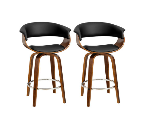 Samuel Black Bar Stool Set 2