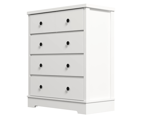olivia tallboy chest drawers white
