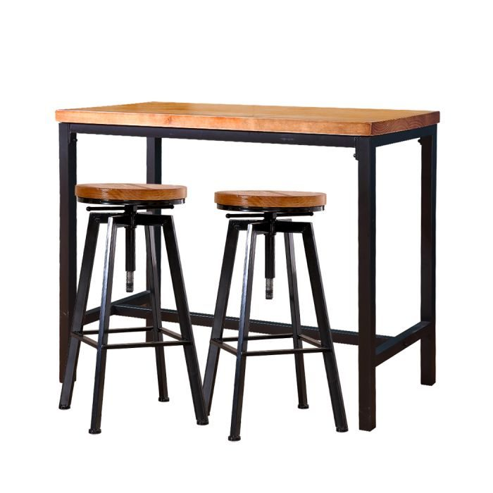 3 piece bar table stool set