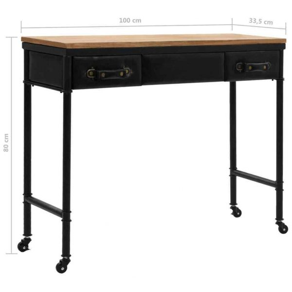 Jake Industrial Console Table Black