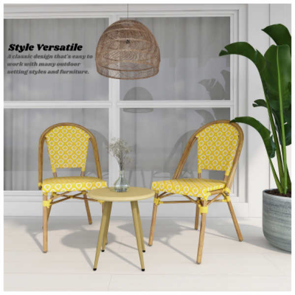 Sissey Outdoor Chairs Yellow 2 Set