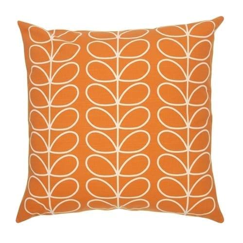 Orla Kiely Tiny Linear Stem Cushion | Orange