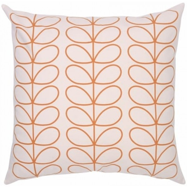 Orla Kiely Tiny Linear Stem Cushion | Orange